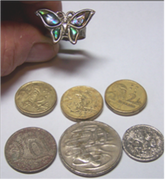 Found ring & coins Oztreasure