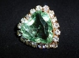 Emerald set in jewellery Oztreasure Rex Woodmore