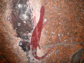 Aboriginal Art found by Rex &  Lyn Woodmore NT