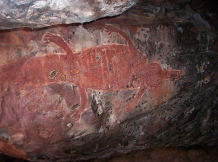 Crocodile Aboriginal Cave Art
