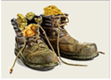 Work boots stuffed with gold nuggets Oztreasure story